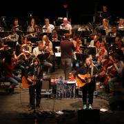 Indigo Girls performance with CU Symphony Orchestra in March 2015