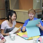 Students get crafty at International Coffee Hour