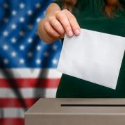 iStock image of person voting