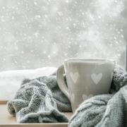 coffee mug and blanket