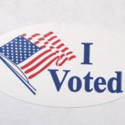 "Photo of ""I Voted"" sticker"