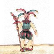 Illustration of Renaissance era fool