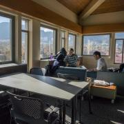 Students study on the top floor of JILA, a joint research institute of CU Boulder and NIST.