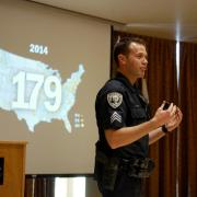Sgt. John Zizz leading active harmer training course in the UMC