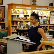 A reader at 2014 Journal Twenty Twenty event, Boulder Book Store