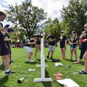 CU Boulder Journey Leaders at Taste of CU during Fall Welcome