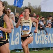 Women running cross country