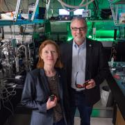 Henry Kapteyn and Margaret Murnane in their lab at JILA