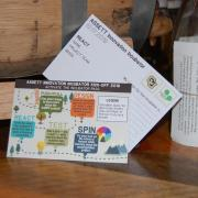 A photo showing a postcard from the 2019 ASSETT Innovation Incubator Kick-off