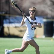 Audrey Kingdom on lacrosse field
