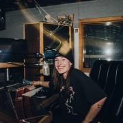 Kylie Ketchner in the studio