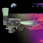A simulation of the level of detail that L-CIRiS's infrared camera will reveal of the moon's surface.
