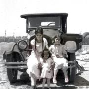 The grandmother and two great-aunts of Linda Arroyo-Holmstrom in 1929