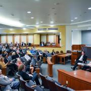 Conference in Wittemyer Courtroom