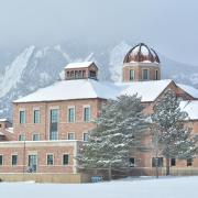 The Koelbel Building in the winter.