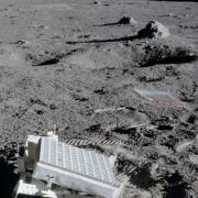 Lunar Ranging Retroreflector on the surface of the moon