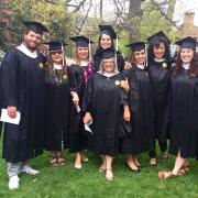 Past participants in the BUENO master's program get their degrees