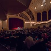 Macky Auditorium full house