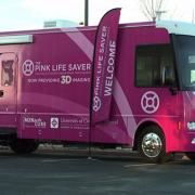 Pink Life Saver Mammography bus
