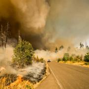 A wildfire in Oregon