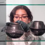 Student places bowls