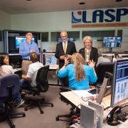 CU President Mark Kennedy visits LASP