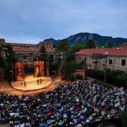 Colorado Shakespeare Festival performance at the outdoor Mary Rippon Theatre