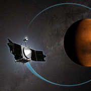 MAVEN in orbit around Mars