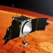 MAVEN spacecraft near Mars