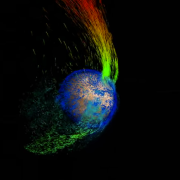 A 3-D animation created by NASA's Scientific Visualization Studio using data from the MAVEN mission to Mars