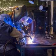 Students do hands-on welding and casting for mechanical engineering class