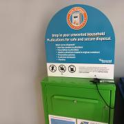 Unwanted household medication disposal unit.