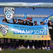 CU men's cross country team after winning the 2019 Pac-12 title