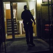 Sgt. Joe Adams checks out Roseville apartment
