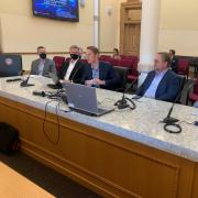 Philip Makotyn presenting before the Colorado General Assembly's Joint Technology Committee