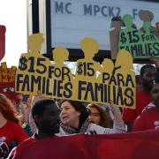 Workers rally for $15 per hour minimum wage