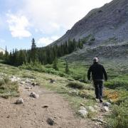 person hiking in Colorado