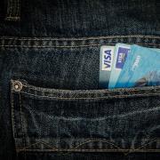 Debit cards in pocket