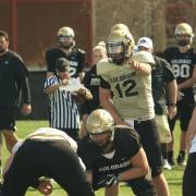 CU quarterback Steve Montez at practice