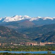 The Rocky Mountains, with CU Boulder in the foreground