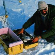 National Snow and Ice Data Center director Mark Serreze conducted research on the St. Patrick Bay ice caps as a graduate student with the University of Massachusetts in 1982. (Photo credit: Ray Bradley)