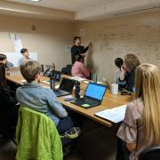 Students and business service providers working together to design for a successful student experience with the new platform.