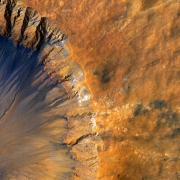 An aerial image of the Martian surface (Image via NASA)