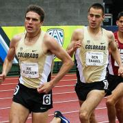 CU Buffs Joe Klecker and Ben Saarel race against Stanford