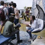 Students talk at the Innovation & Entrepreneurship Campus Kickoff