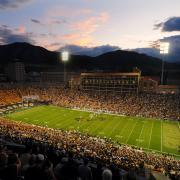 A night game hosted at Folsom Field