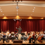 a classical orchestra on stage