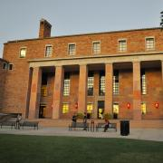 Photo of Norlin Library's west face.