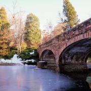 Varsity Bridge with snow