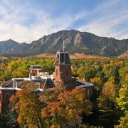 Old Main building during fall